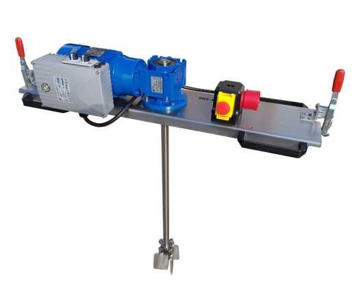 0,75 KW IBC - Containerroerwerk type: IBC-0205 (elektronisch instelbaar) voor media tot 2000 m/Pas in IBC- 1000 liter.