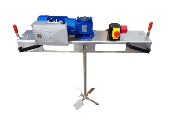 0,75 KW IBC - Containerrührwerk elektronisch regelbar für Medien bis 2000 m/Pas im IBC- 1000 Liter.
