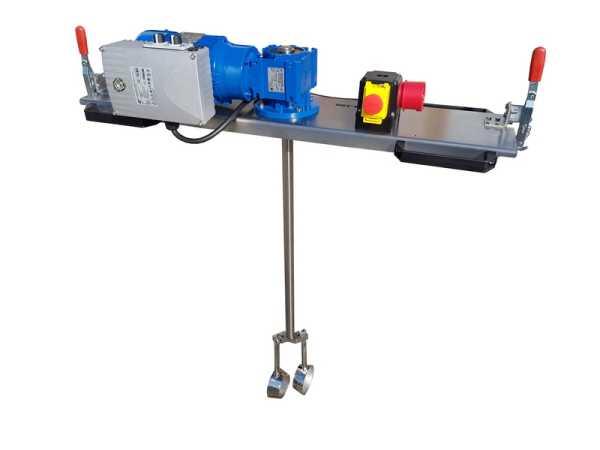 0,75 KW IBC - Containermengwagen elektronisch instelbaar voor media tot 3000 m/Pas in IBC- 1000 liter.