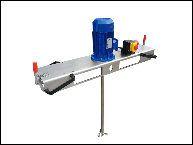 Container agitator 600 mPas with insert
