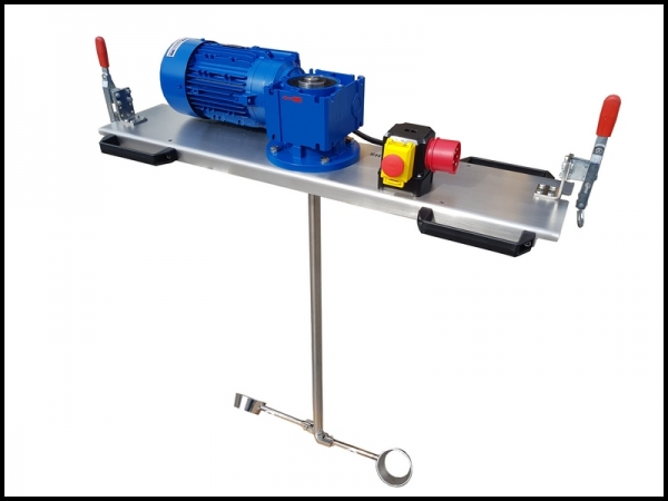 IBC - Container agitator Type: IBC-0180 suitable for liquids with up to 10000 m/Pas in an 1000 liter IBC container