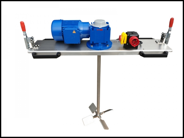IBC - Container agitator Type: IBC-0200 suitable for liquids with up to 2000 m/Pas in an 1000 liter IBC container